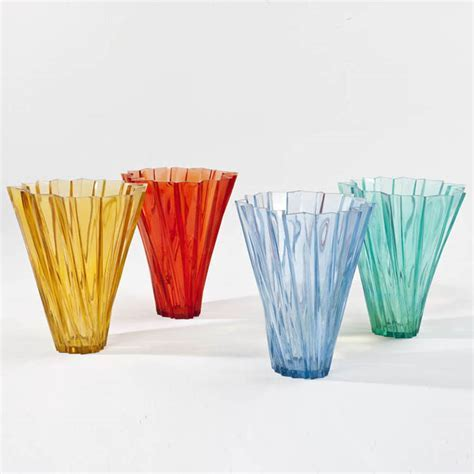 Kartell Shanghai Vase with Round Tapered Shape for Flower