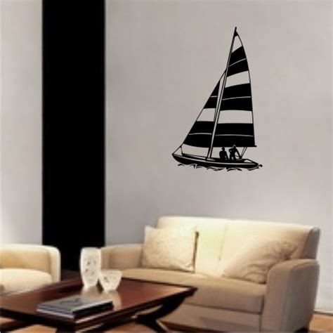 Wandtattoo Kinderzimmer Segelboot by Mo02 Segelboot Wandtattoo Schiff Walltattoo Sailboat Als