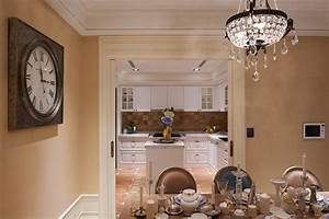 tuscan giorno gorgeous neo classical apartment in beige With kitchen colors with white cabinets with art wall clock