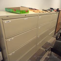 hirsh beige 4 drawer lateral file cabinet 36 quot locking