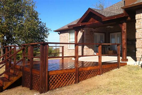Backyard Deck Patio Cover In Frisco Hundt Covers Decks And