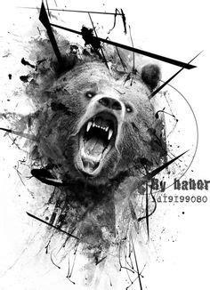 Bear Head Tattoo | The meaning of INK | Pinterest | Head tattoos, Bears and Tattoo