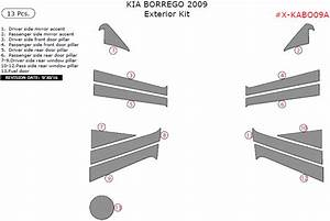 Kia Borrego 2009 Exterior Kit  13 Pcs