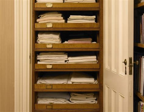 linen closet pull out shelves features millwork