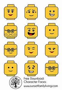 lego minifigure head template - lego faces lego party in 2018