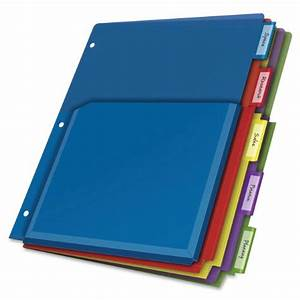 cardinal expanding pocket poly divider 5 tab multi color With 5 tab binder dividers