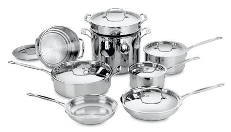 cuisinart stainless steel cookware set  piece cutlery