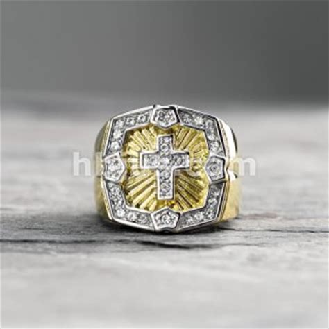 crystal paved square face  cross center pvd gold