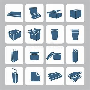 Packaging Icons Set Stock Vector - Image: 47981841