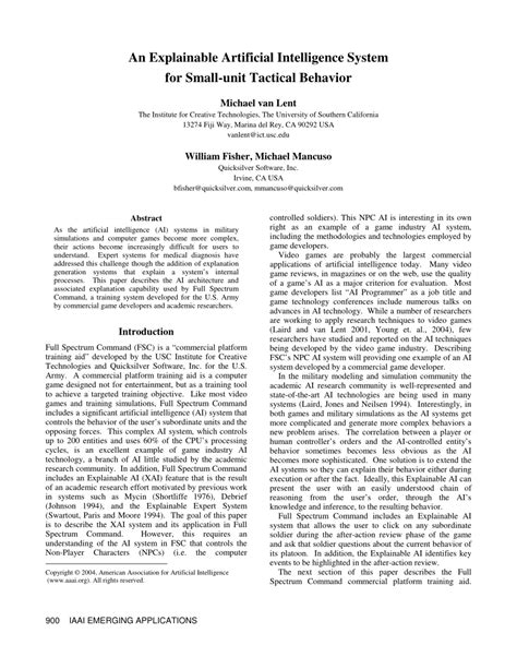 (PDF) An Explainable Artificial Intelligence System for