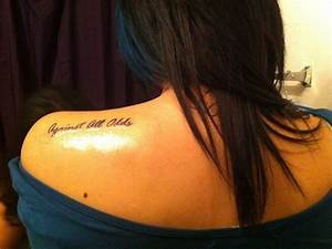 57 Awesome Quotes Shoulder Tattoos