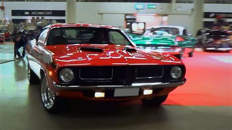 Muscle Cars Leaving American Car Show 2018