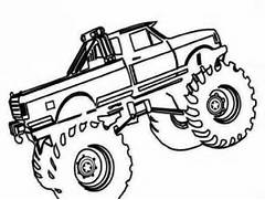 monster truck outline free printable monster truck coloring pages az