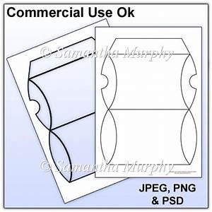 pillow box template commercial use gbp208 instant card With card making templates free download