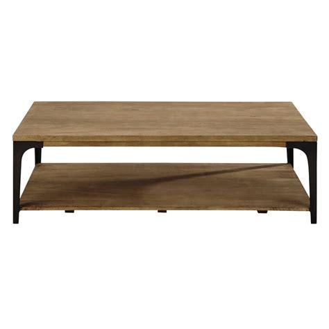 canapé en 4 fois sans frais table basse en manguier massif et métal l 130 cm
