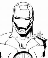 Iron Coloring Avengers Pages Drawing Clipart Printable Superheroes Face Printables Clip Helmet Pdf Minister Getdrawings Library Getcolorings sketch template