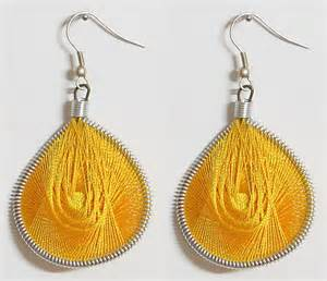 feather earrings online india yellow thread earrings