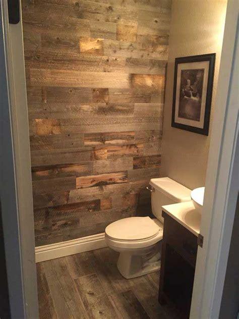 ways  boost  refresh  bathroom  adding wood