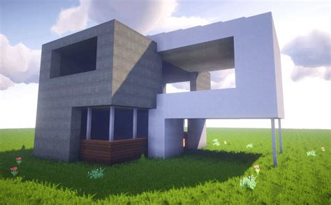 minecraft   build  simple modern house  house tutorial  easy survival
