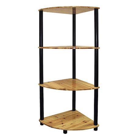 Corner Black Bookcase by Open Corner 4 Shelf Bookcase And Black Walmart