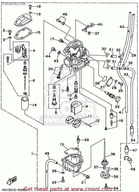 yamaha ttr250 ttr250c 2001 1 usa california carburetor schematic partsfiche