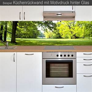 Küchenrückwand Glas Foto : k chenr ckwand aus glas mit motivdruck waldblick ~ Michelbontemps.com Haus und Dekorationen