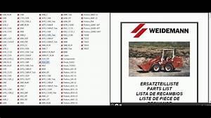Weidemann Parts Catalog