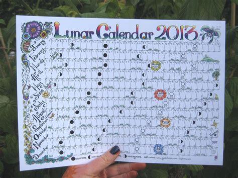 lunar moon calendar etsy home pinterest