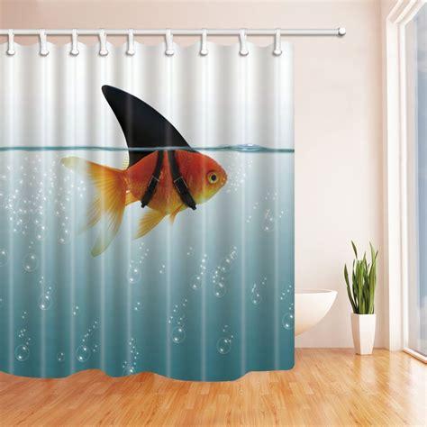 Goldfish Shower Curtain - fish decor goldfish shower curtain waterproof polyester