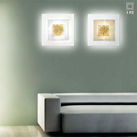 applique da parete design leucos laguna p60 applique da parete quadrata in vetro con