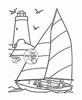 Lighthouse Coloring Pages Simple Printable Drawing Sailboat Transportation Wuppsy Lighthouses Print Adult Michigan Getcolorings Cartoon Colored Printables Getdrawings sketch template