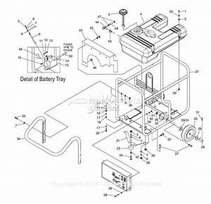 Generac 4583 Parts Diagram For Frame  Handle  Wheel Kit
