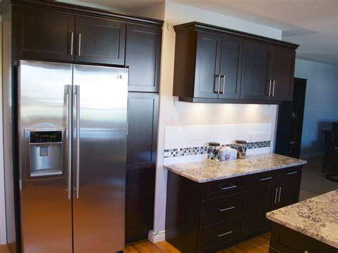 refinishing veneer kitchen cabinets cabinet refacing done in cherry veneer contemporary 4678