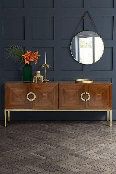 ravello sideboard walnut  brass art deco  furniture