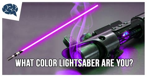how many lightsaber colors are there what color lightsaber are you brainfall