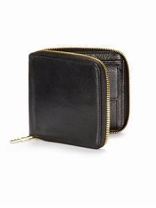 Mcq Leather Zip Around Wallet In Black For Men Lyst