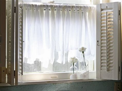 easy fabric scrap cafe curtains hgtv
