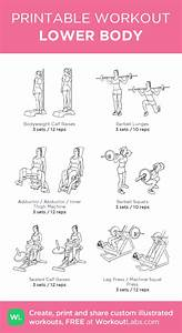 Lower Body  U2013 Illustrated Exercise Plan Created At Workoutlabs Com  U2022 Click For A Printable Pdf