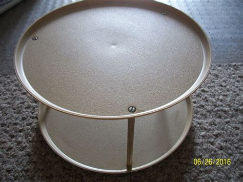 Two Tier Lazy Susan Spice Rack by Vintage Loma 2 Tiered Lazy Susan Turntable Spice Rack
