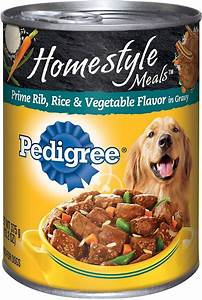 Pedigree Homestyle Meals Prime Rib, Rice & Vegetable ...