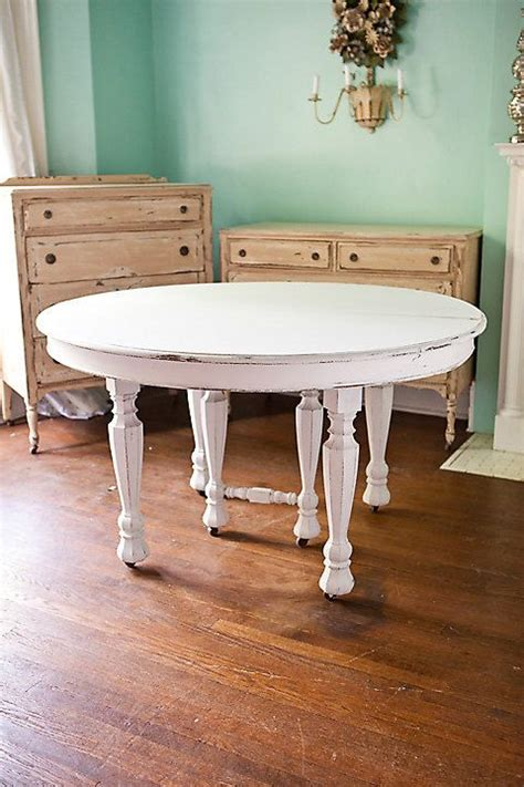 white dining tables shabby chic antique dining table shabby chic white distressed kitchen round cottage prairie vintage