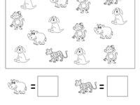 numbers counting images worksheets printable