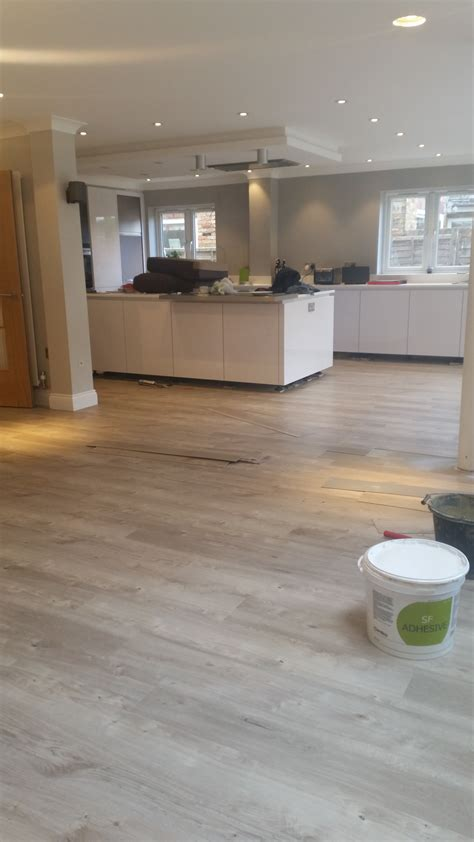 ideas for kitchen floor amticoflooring spacia wood 39 sun bleached oak