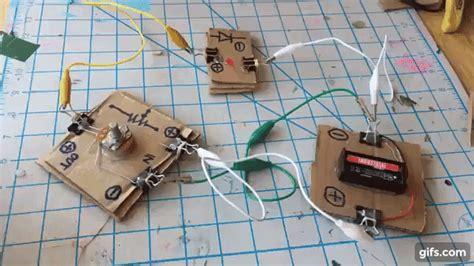 diy electronic modules  tinkerers cardboard circuits