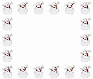 Snowman Border Clipart – 101 Clip Art