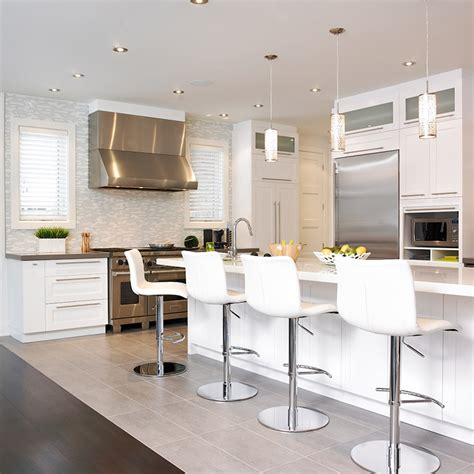 cuisine comtemporaine cuisine style contemporain avec comptoir de quartz http