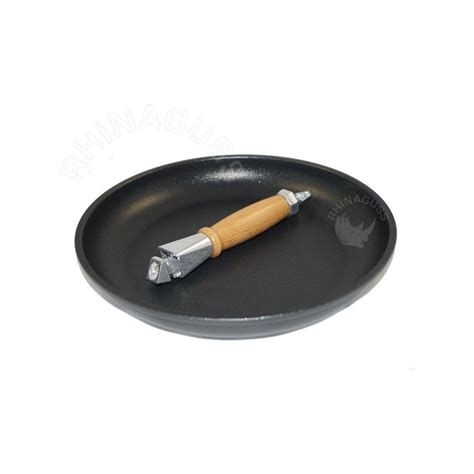 batterie de cuisine induction inox poêle à frire diamant 16 cm mr stove avec manche