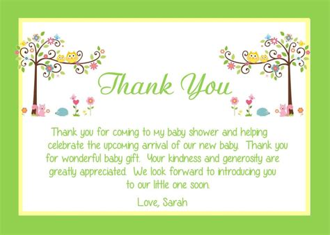 How To Say To Shower In - baby shower thank you card wording ideas all things baby