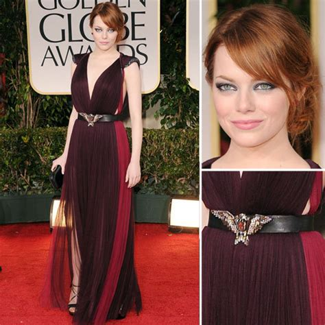 Pictures Of Emma Stone Wearing Lanvin At The 2012 Golden