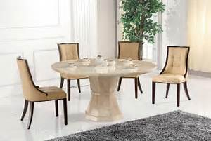 Marcello Marble Large Round Dining Table With 6 Chairs